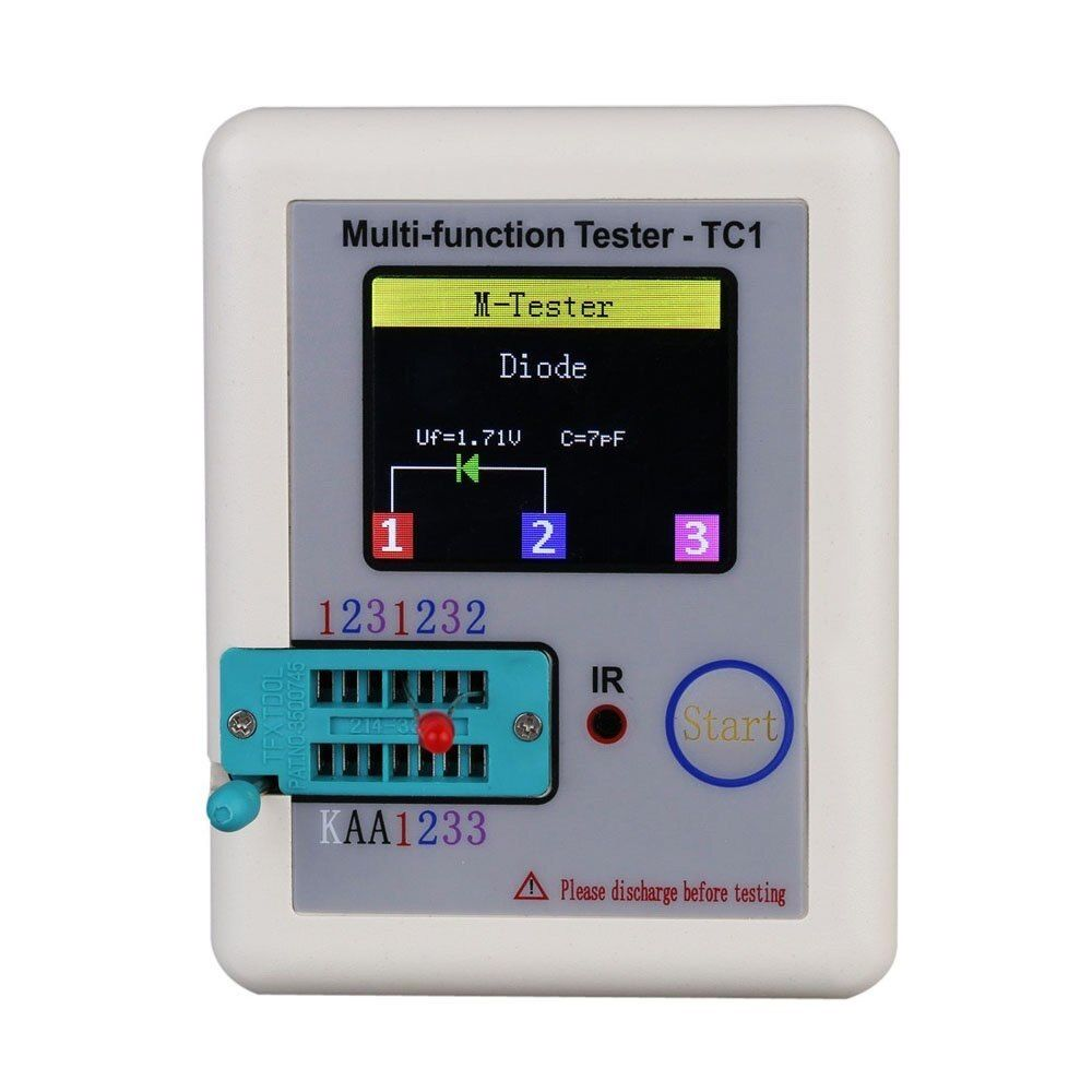 Newest Transistor Tester TFT TC-1 Diode Triode Capacitance Meter LCR ESR meter NPN PNP MOSFET IR Multifunction tester multimeter