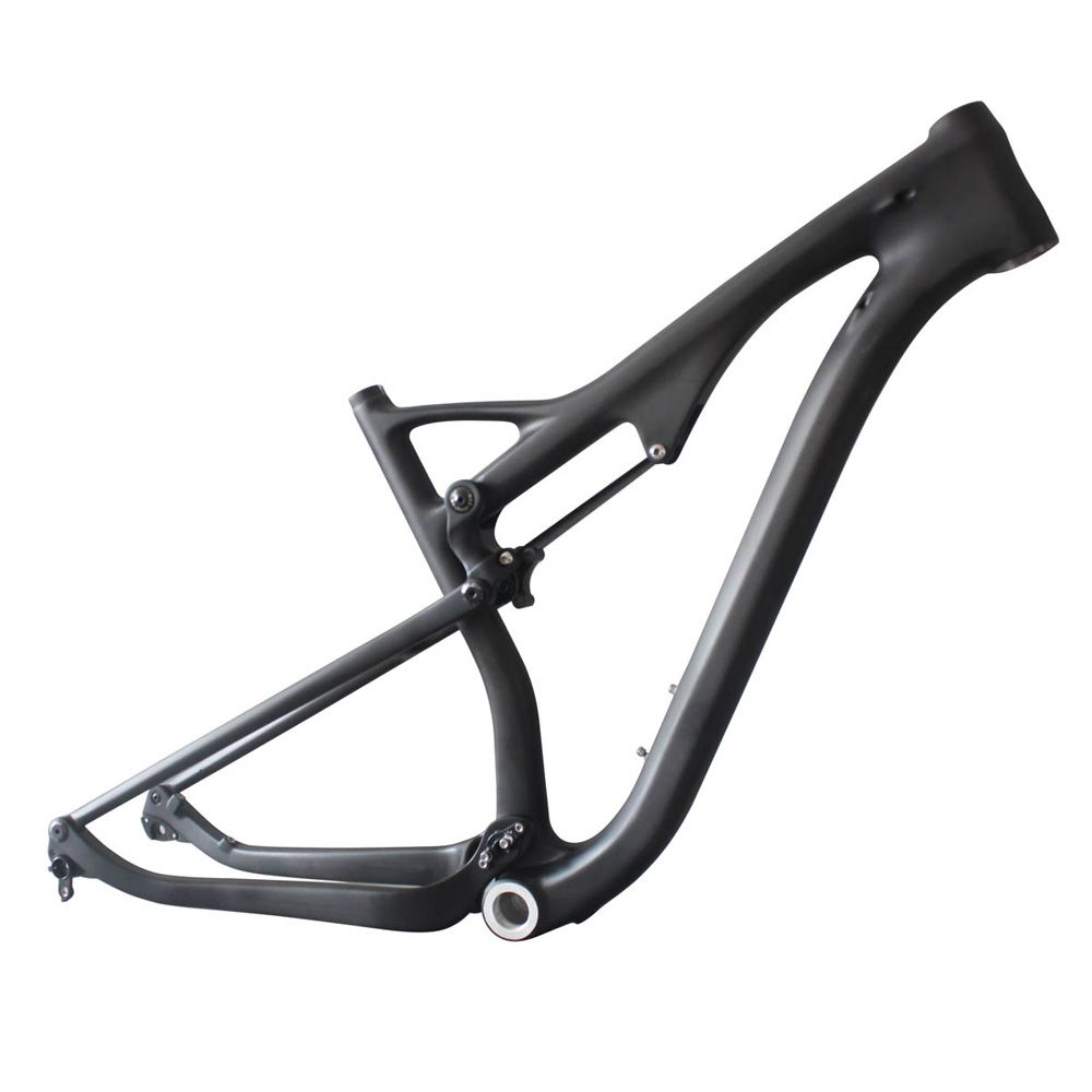 29er full suspension carbon frame mtb bike frame ICAN brand size 15.5/17.5/19/21 BSA thru axle 110mm rear travel AC036