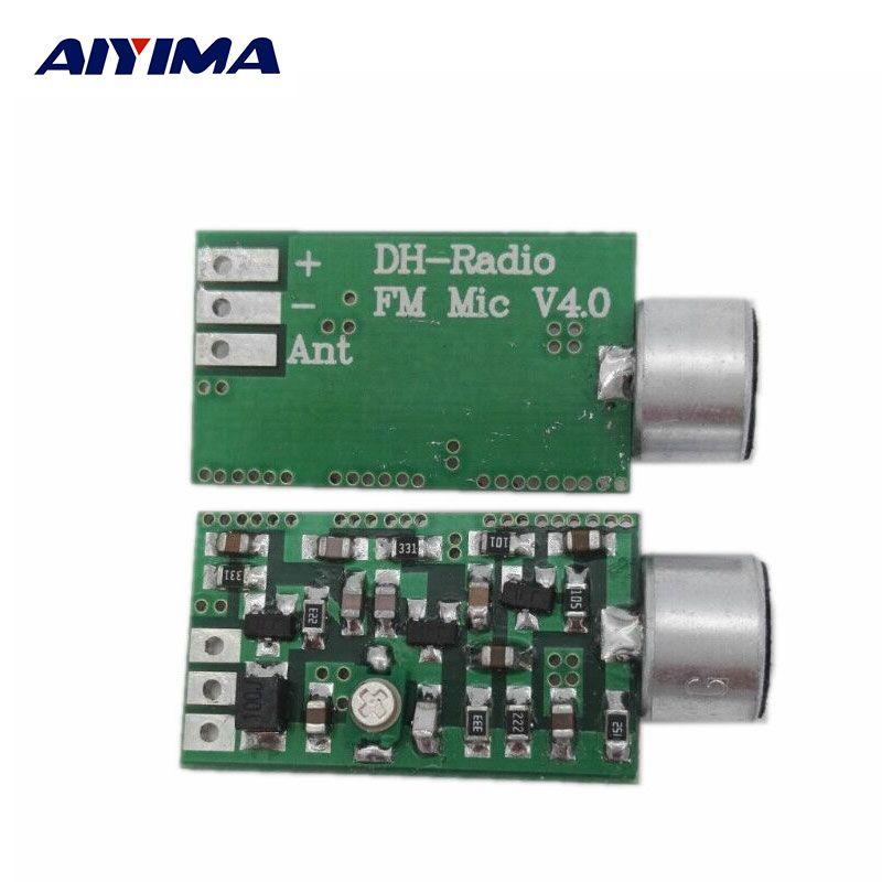 AIYIMA Mini FM Microphone FM Module Émetteur MICRO Sans Fil Audio Émetteur 100 MHz Mini Bug Écoute Dictagraph Intercepteur