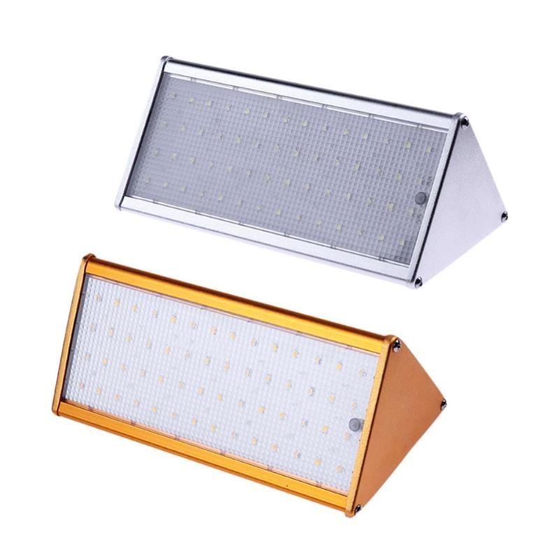 Solar Aluminium Alloy 56 LED Wall Lights Outdoor Garden Lamp Microwave Radar Sensor Waterproof Energy Saving Lamp Lamps