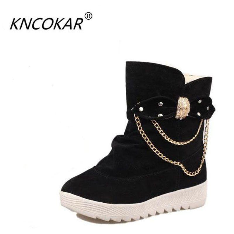 Nuevas mujeres de invierno botas de tubo corto zapatos añadir engrosamiento del pelo corto botas botas de algodón de preservación de calor, ocio y moda