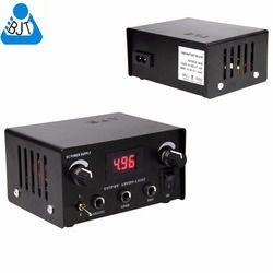 Tato Sumber Digital Dual Tato Power Supply LCD Badai Kekuatan untuk Mesin Tato Gun Tinta Kit Alat