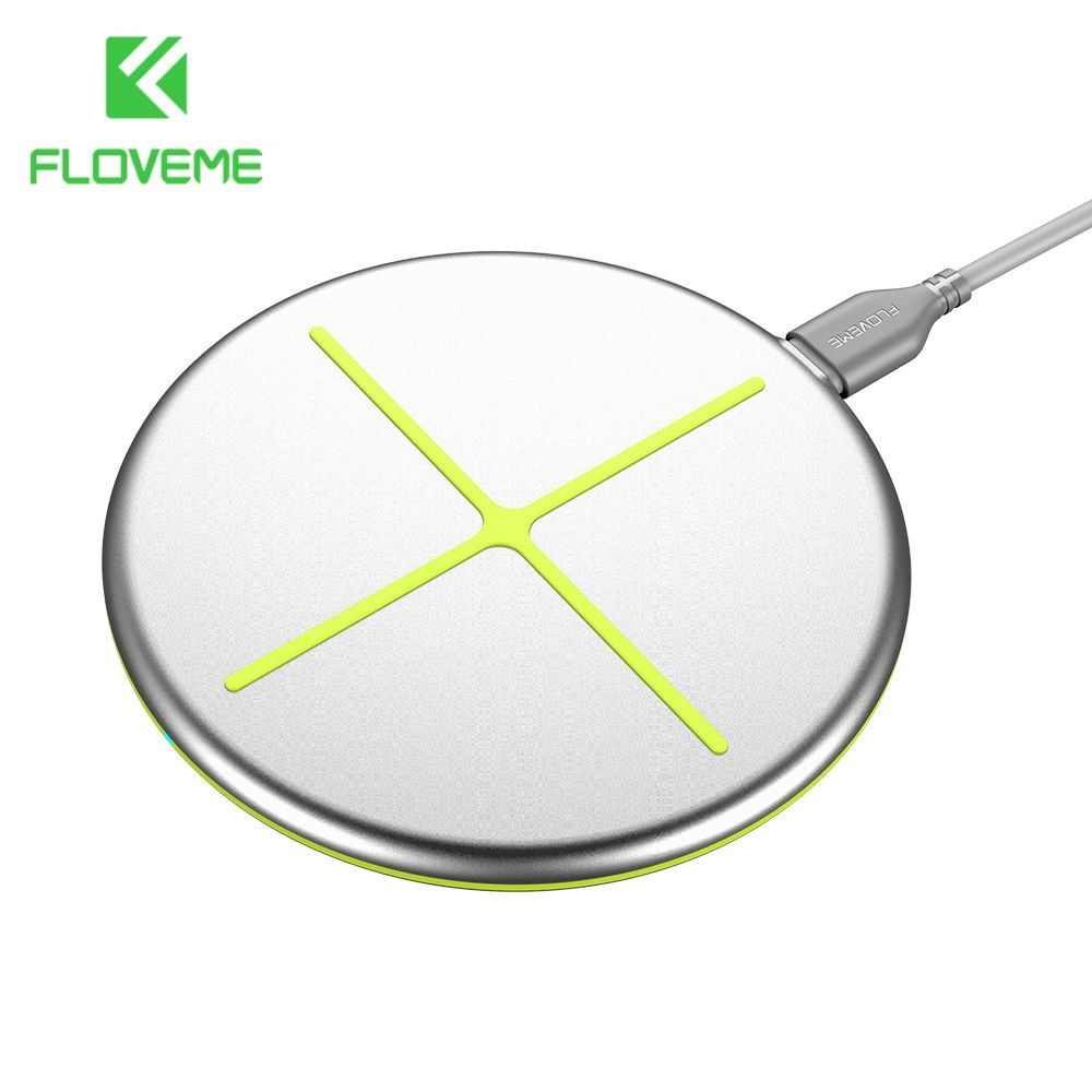 FLOVEME Qi Wireless Charger For Samsung Galaxy S8 S9 <font><b>Ultra</b></font> Thin Fashion Charging Dock Cradle Charger For iphone 8 8 Plus X phone