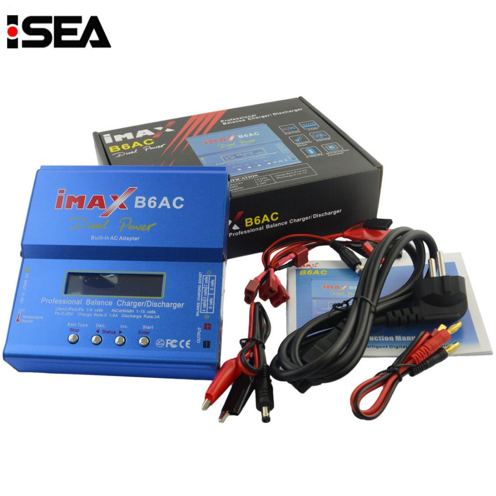 HTRC iMAX B6 AC B6AC 80W 6A Dual RC 50W 5A Balance Battery <font><b>Charger</b></font> Lipo Lipo Nimh Nicd Battery With Digital LCD Screen
