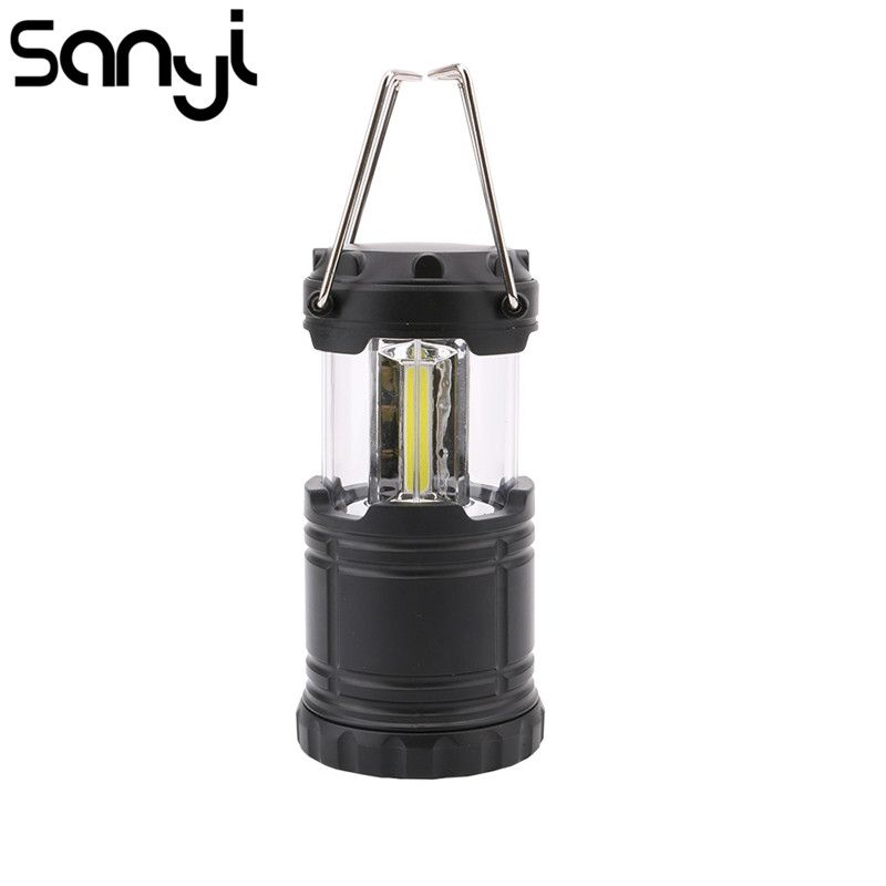 Mini 3*COB LED Portable Lantern Collapsible Tent Lamp Waterproof Outdoor Camping Hiking Light Powered By 3*AAA