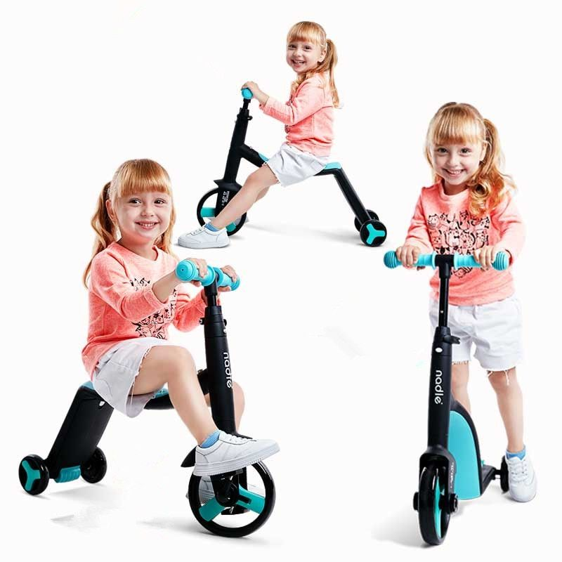 Children Scooter Tricycle Baby 3 In 1 Kids Balance Bike Ride On Toys Baby Skateboard Outdoor Tricycle yoya stroller