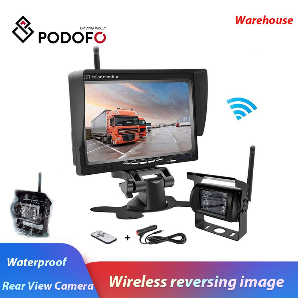 Podofo Wireless Truck Vehicle Car Rear View Backup Camera 7