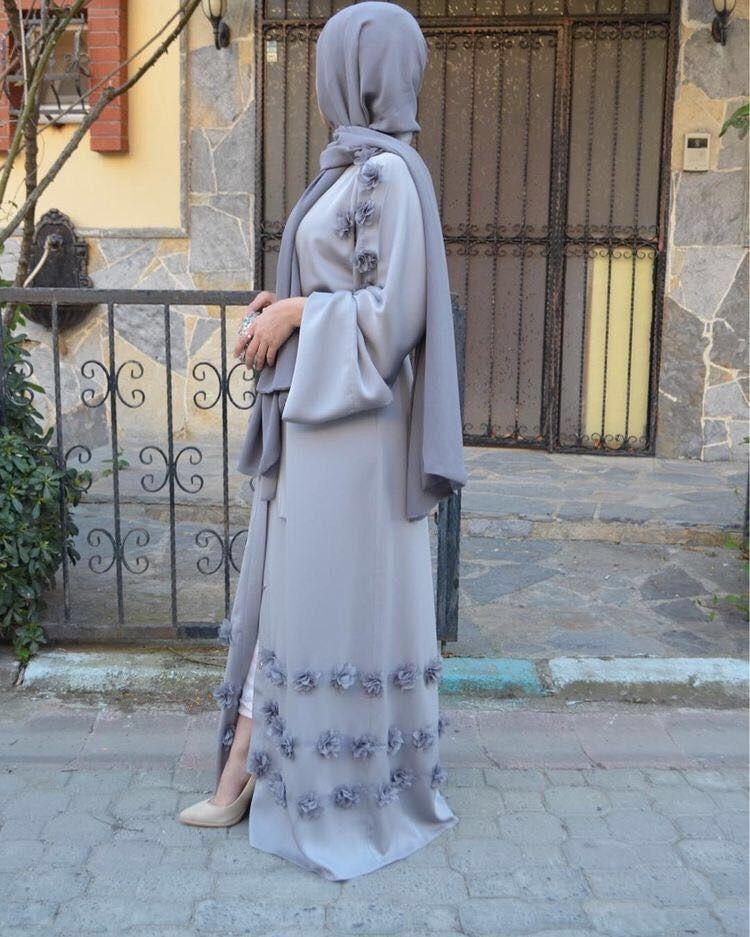 Elegant adult Muslim Abaya Arab Turkish Singapore cardigan appliques Jilbab Dubai Muslims Women Dresses Islamic dress wj1248