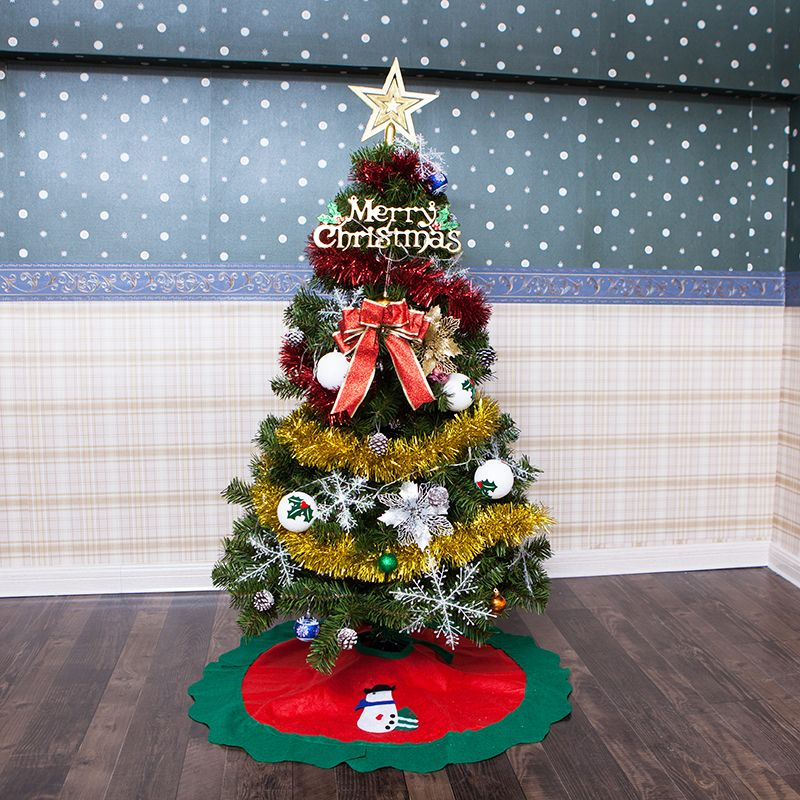 Infant Shining Christmas Tree Festival DIY Christmas Party Tree 120CM(4 Feet), 150CM(5 Feet) with Decorations Light Led
