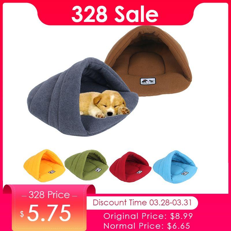 6 couleurs Doux laine polaire Chien Lits Hiver Chaud Pet Chauffée Tapis Petit Chien niche pour chiot Maison pour Chats sac de couchage Nid Grotte lit
