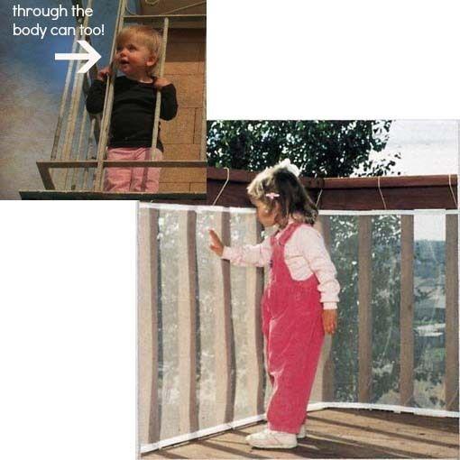 Valla de Seguridad del bebé neta balcón esgrima para niños proteger la niño del riesgo de unos niños que no tiene miedo de engrosamiento