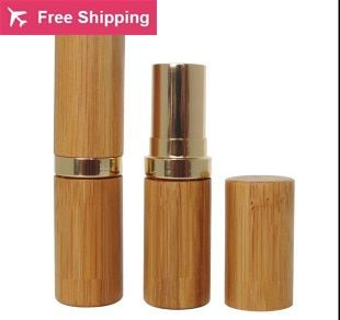Free shipping 10/lot 12.1mm Makeup bamboo design empty lip gross container bamboo lipstick tube DIY cosmetic, lip balm tubes