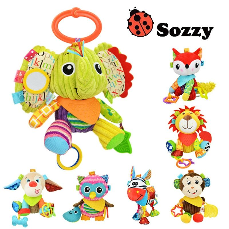 Authorized Authentic SOZZY 7 Designs Multi Function Baby Rattle Bell Infant Baby Crib Stroller Hanging Toy