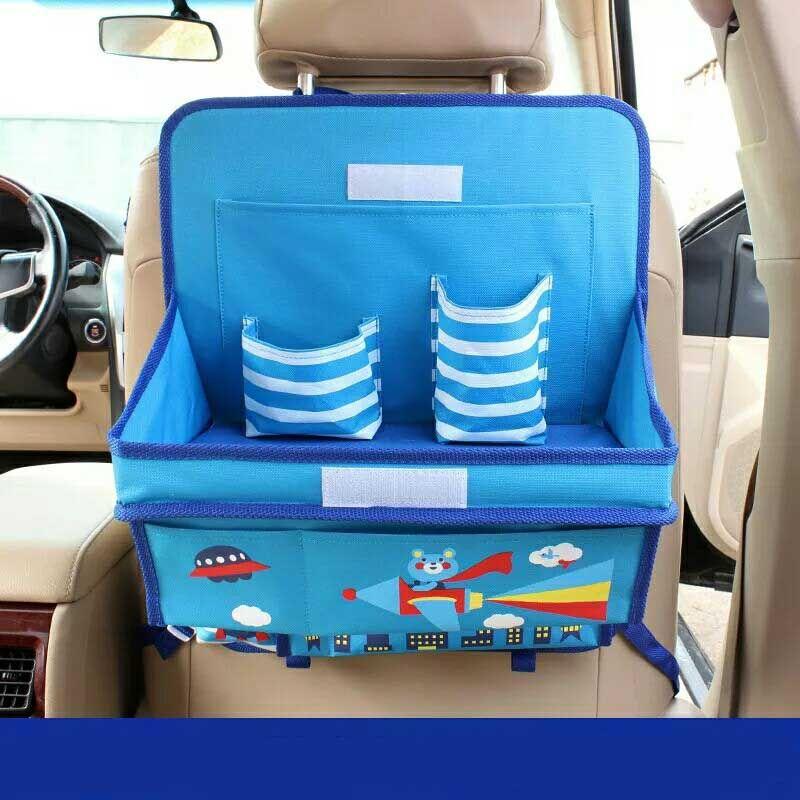 Организатор автомобиля для детей Оксфорд мультфильм Авто организаторы на заднем сиденье ребенок обеденный стол Коробка для хранения ...