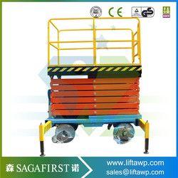 Angkat gunting platform 6 m-12 m udara man angkat angkat gunting listrik