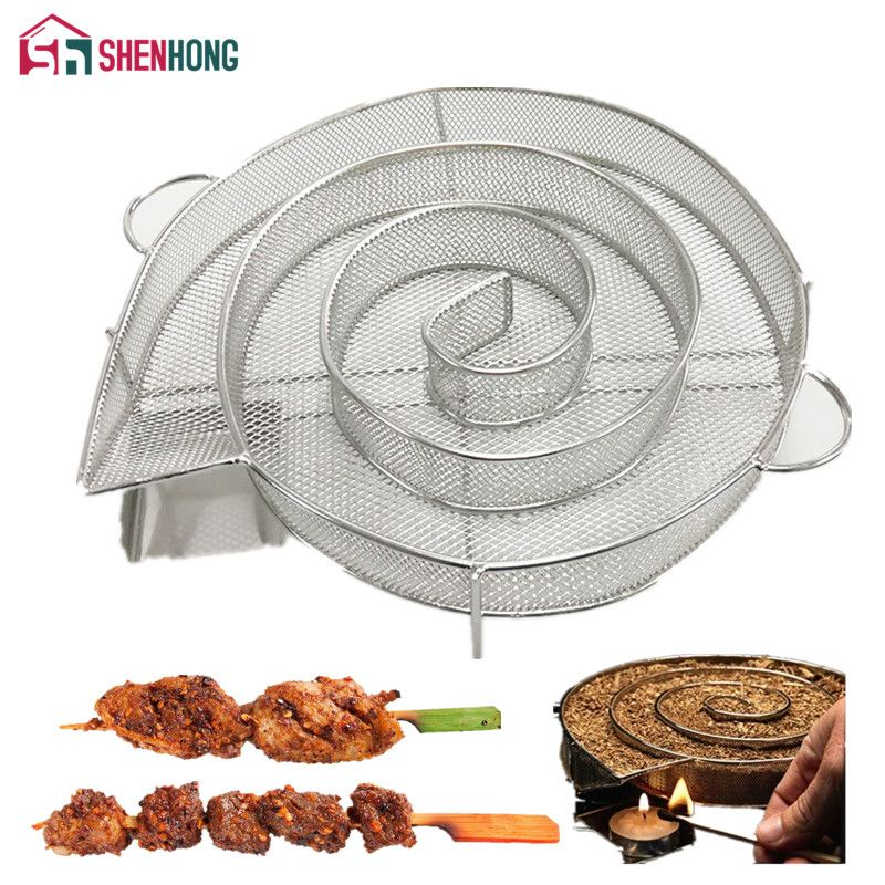 SHENHONG Cold Smoke Generator for BBQ Bacon Fish Salmon Meat dust Hot and Smoking Salmon Meat Burn Smoker Tools Bacon Meat Fish