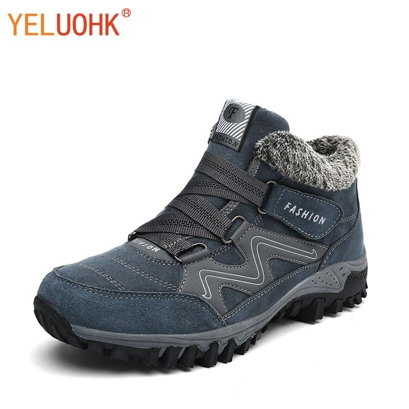 38-46 Men Boots Plush Warm Winter Shoes Men Anti-skidding Winter Boots Men Big Size High Quality