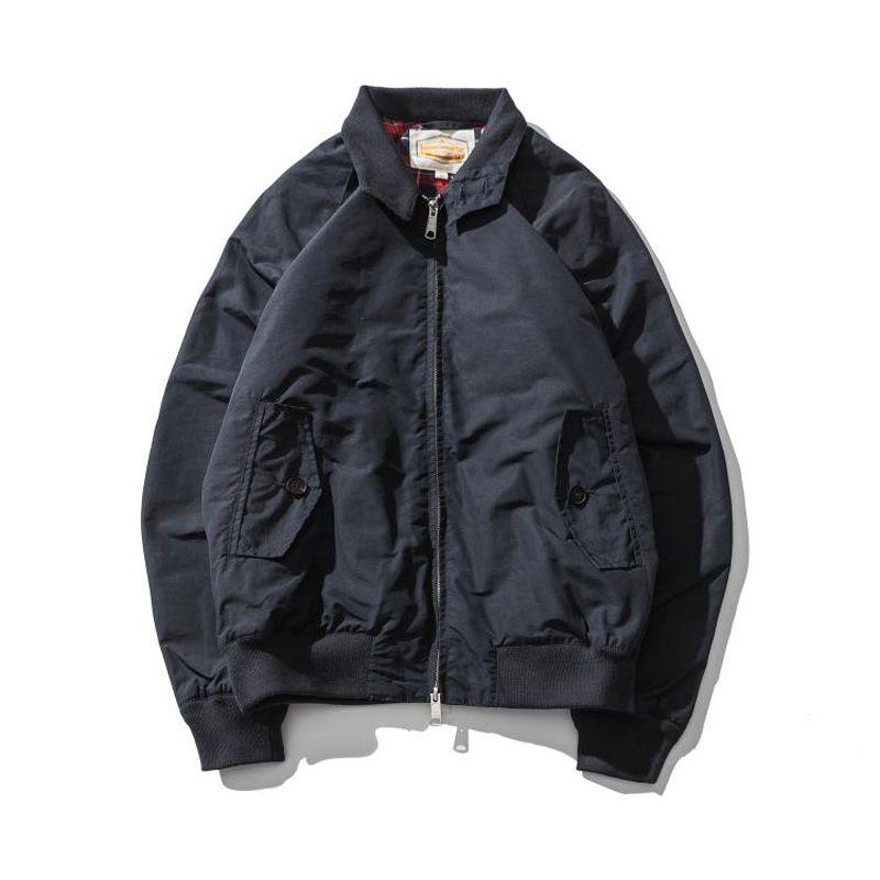 G9 Harrington Jacket Replica 80 Cotton/20 Wax Waterproof Raincoat Mens Slim Fit Coat Four Season Wear