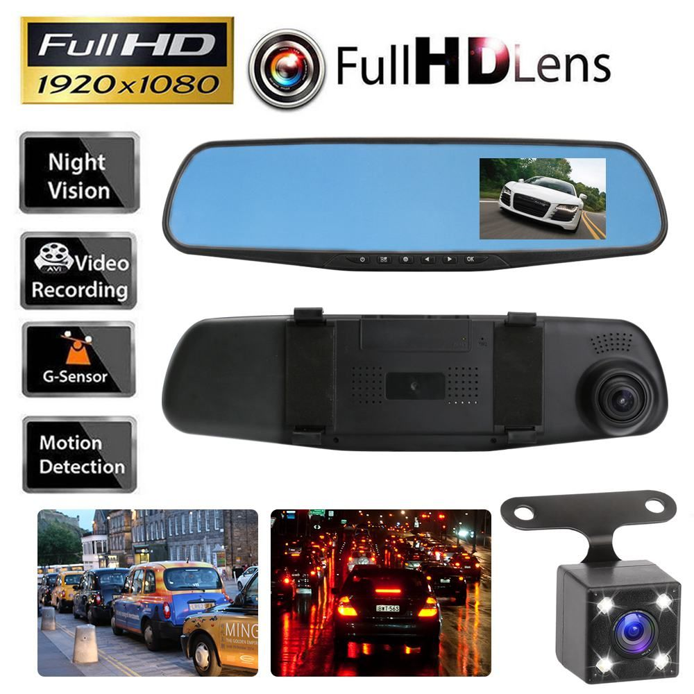 2017 Car DVR Camera Rearview Mirror Auto Dvr Dual Lens Dash Cam Recorder Video Registrator Camcorder Full HD 1080p G sensor DVRs