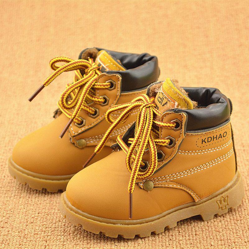 Printemps Automne Hiver Enfants Sneakers Martin Bottes Enfants Chaussures Garçons Filles Bottes de Neige Casual Chaussures Filles Garçons En Peluche Mode Bottes