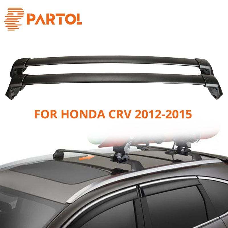 Partol Black Car Roof Rack Cross Bar Crossbars Top Box Cargo Luggage Carrier Roof Rack Cross bars 150LBS For Honda CRV 2012-2015