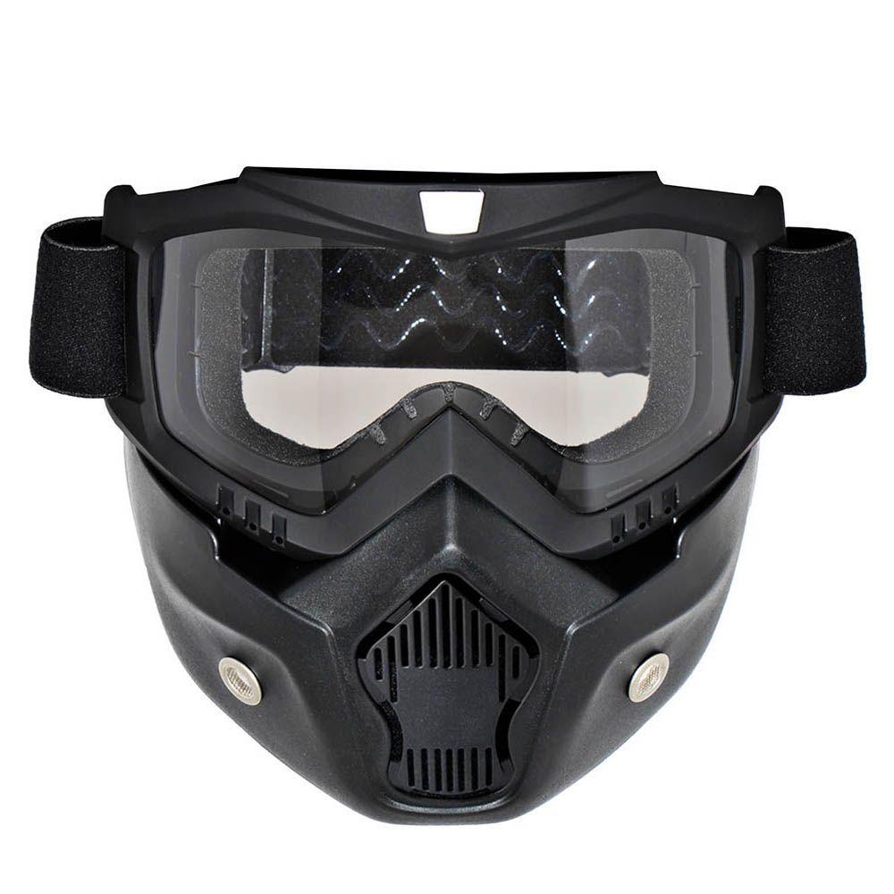 Съемная мотоцикл очки Очки маска козырек Лыжная сноуборде Мотокросс Óculos Gafas для открытого Уход за кожей лица мотоцикл половина шлем