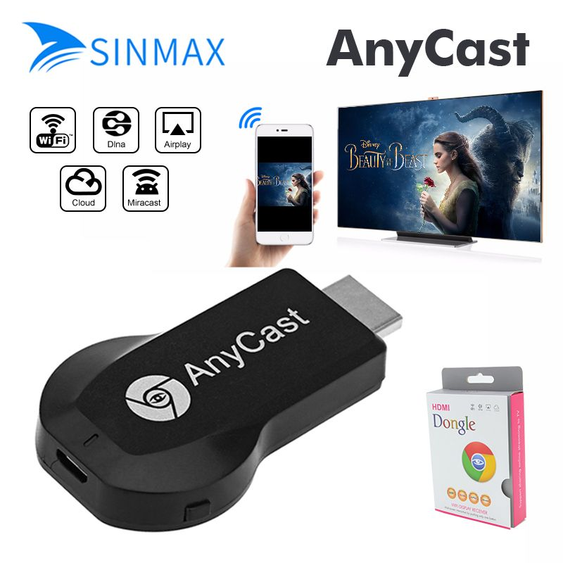 Anycast M2 Ezcast Miracast Any Cast AirPlay crome cast HDMI TV Stick Wifi Display Receiver Dongle For IOS Andriod