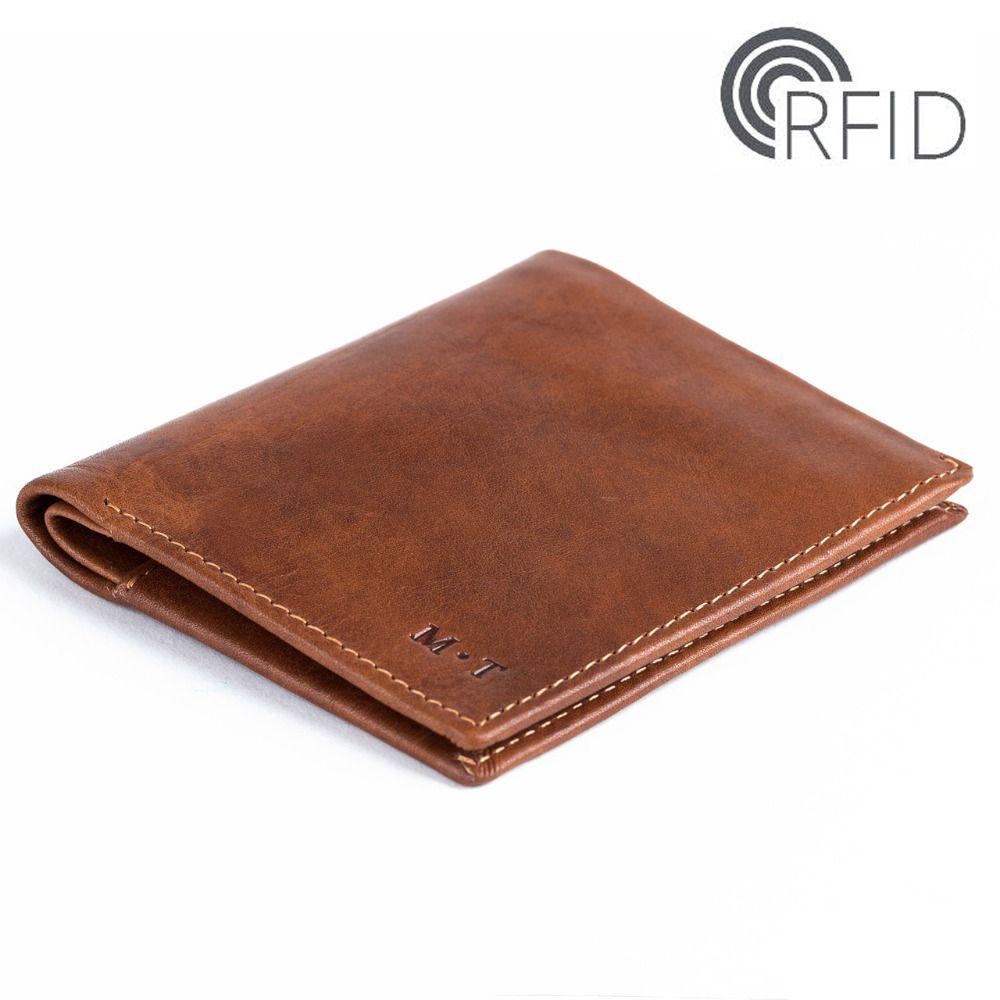 2018 Мода Новый кожаный Для мужчин двойные RFID кошелек черный Цвет bellroy ультра тонкий бумажник монет сумка Невидимый SD карты сумка