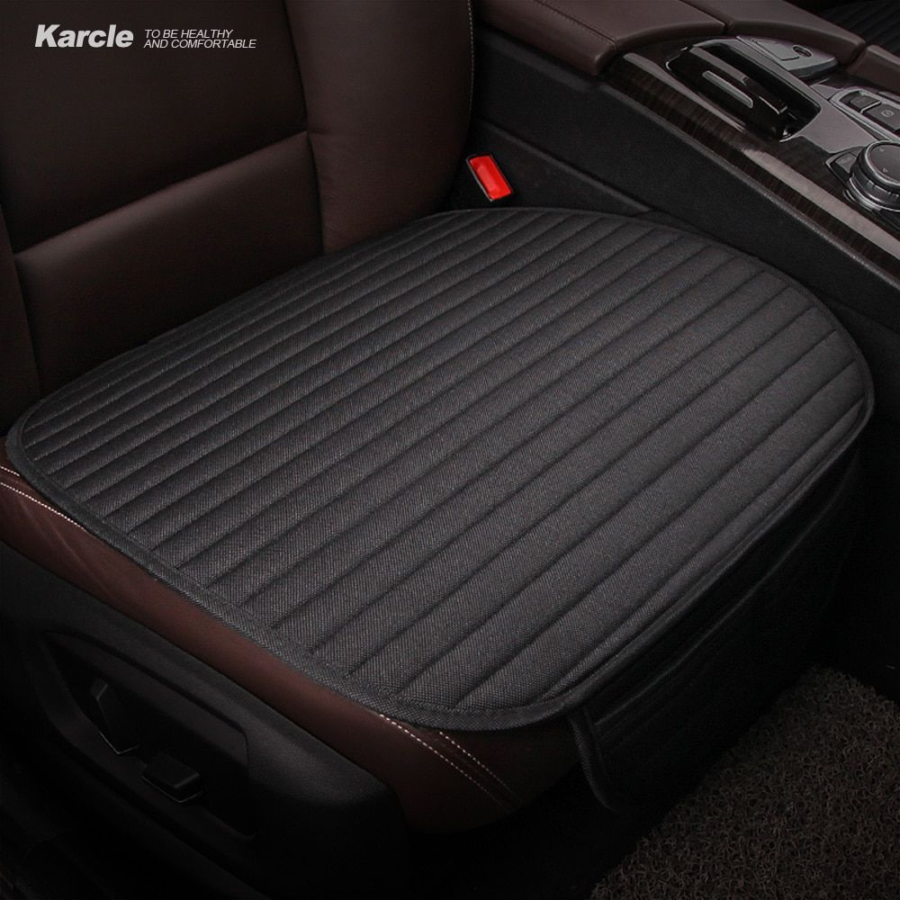 Karcle Car Seat Covers Universal Linen Breathable Seat Cushion 4 Seasons Healthy Pad Auto Accessories Car-styling for Toyota