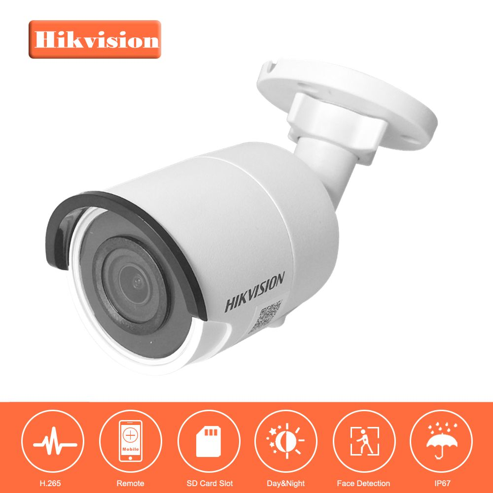 HIKVISION 8MP H.265 Bullet IP Camera DS-2CD2085FWD-I 3D DNR Network Security Camera with High Resolution 3840 * 2160