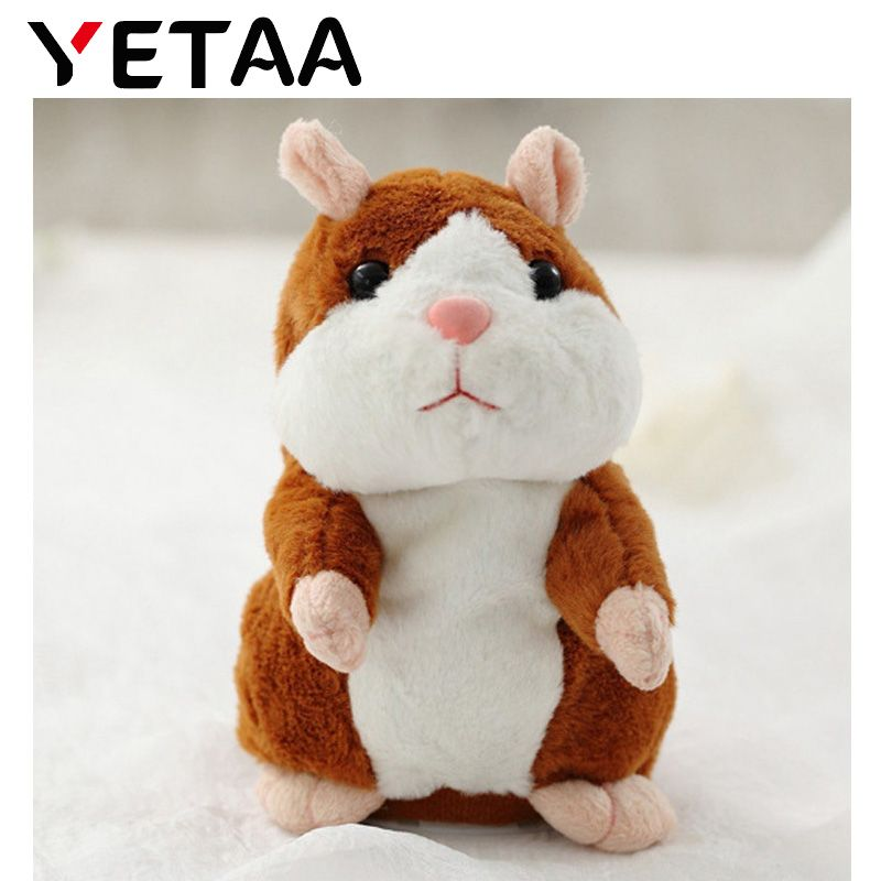 YETAA Speaking Talking Sound Record Hamster Sweet Animals Talking Hamster Toys for Children Stuffed & Plush Animals Sweetie Toys
