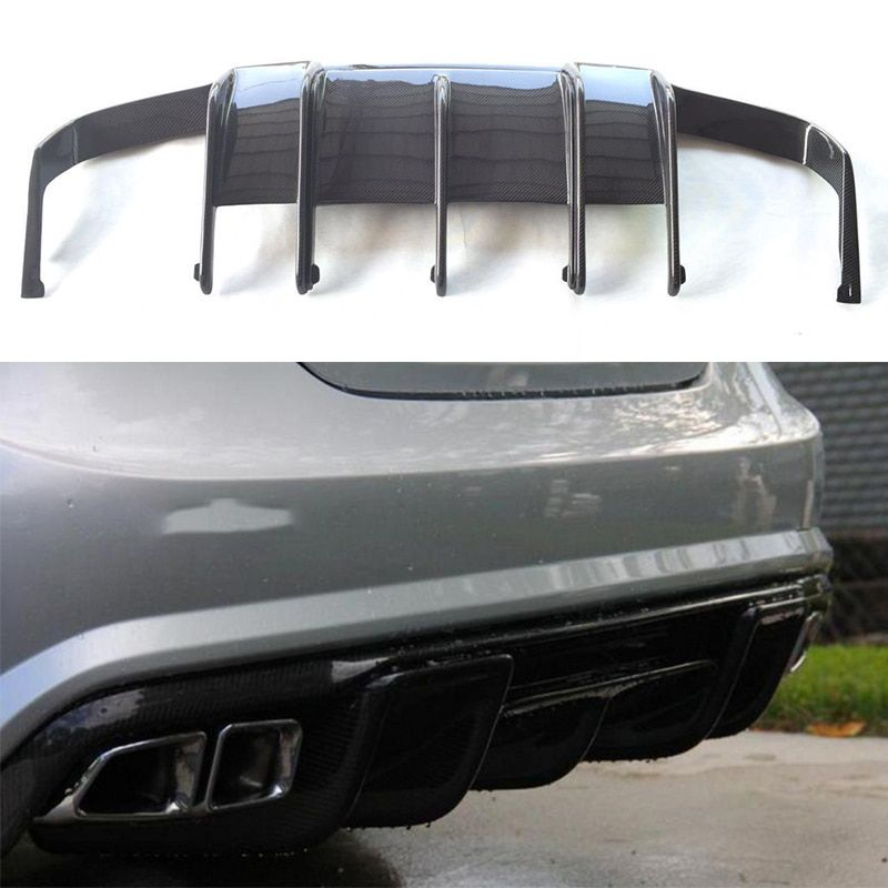 For Mercedes Benz CLS Class W218 CLS350 CLS63 AMG Bumper Carbon Fiber Rear Trunk Diffuser 2011~2014