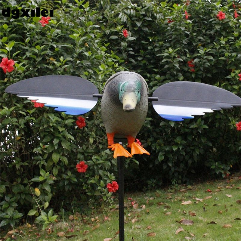 Wholesale Outdoor Hunting Remote Conrol 6V/12V Hunting Electronic Decoy Hunting Duck With Magnet Spinning Wings