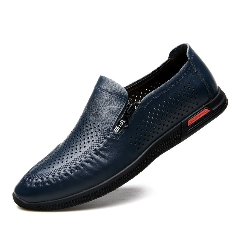 Genuine Leather Shoes For Men Breathes Shoes Feet Sneakers Walking Shoes Tide Breathable Flat Male Men Shoes Comfort Arder