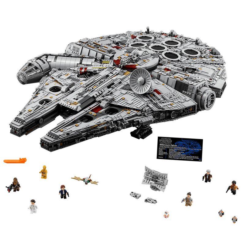 8445pcs Star Wars Destroyer Millennium Falcon Model Bricks Blocks Compatible legoings 75192 05132 Educational Toys Gifts