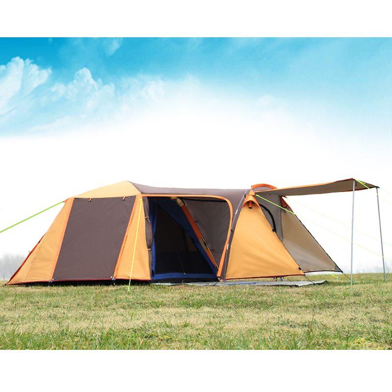 Hohe qualität doppel schicht 3-4person einer halle eine schlafzimmer wasserdicht winddicht camping zelt