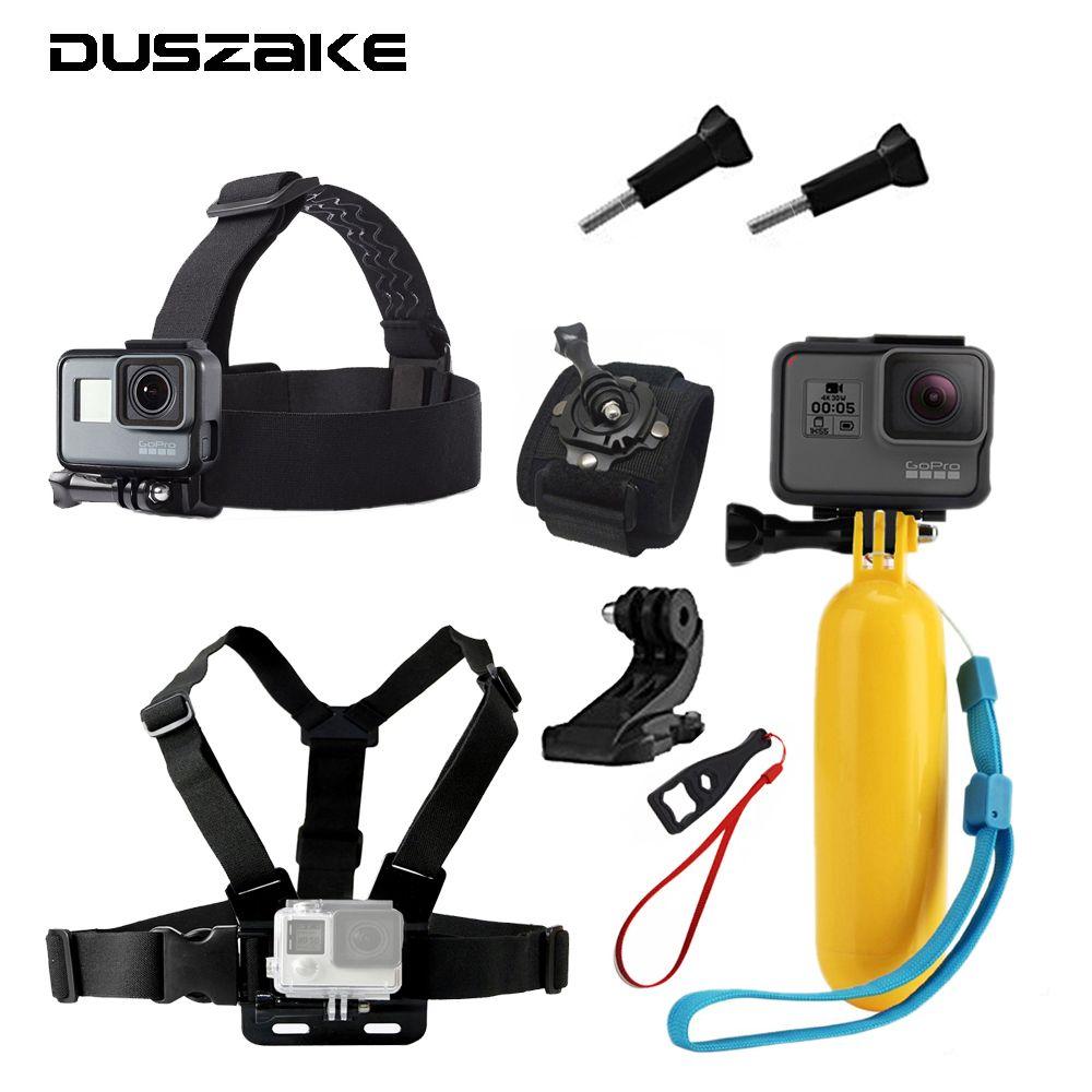 Accessories Set For Gopro Hero 5 Head Chest Mount Strap For Yi 4k Floating Selfie Stick for Eken H9 Chest Belt for SJCAM Camera