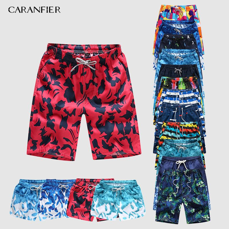 CARANFIER Men's Sports Short Beach Shorts Bermuda Board Shorts Surfing Boxer Trunks Bathing Suits Swimsuits
