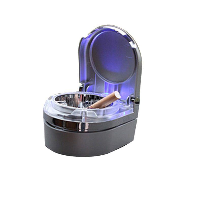 CHIZIYO 3 Colors Universal Portable Smoking Accessory Cigarette Mini Ashtray Ash Car Ashtray With LED Light