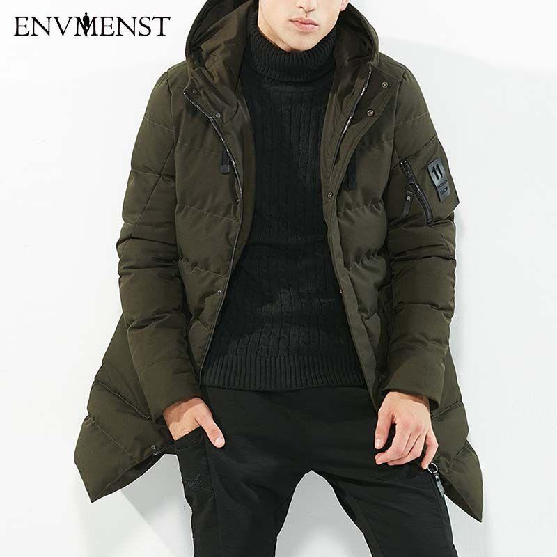 2017 New Winter Men's Parkas Hooded Thick Windbreaker Brand Clothing Man's Slim Fit Warm Jacket Male Wear Coats Plus Size XXXL