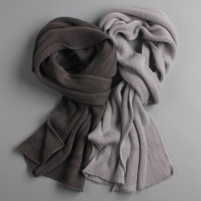 2018 NOUVEAU arrivé hommes écharpe en tricot printemps Unisexe Épais Chaud écharpes d'hiver longue taille mâle cachemire chaud foulards de femmes
