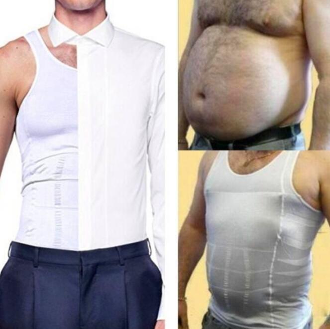 Hommes Shapers sans manches ferme ventre ventre Buster gilet contrôle minceur ceinture corset chemise Sauna gilet outil de lifting