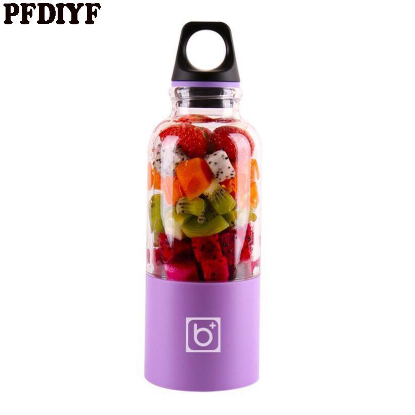 500 ml Portable USB Électrique Fruits Presse-agrumes Légumes tremper Blender Secouer De Poche Milk-Shake Mélangeur Presse-agrumes Bouteille