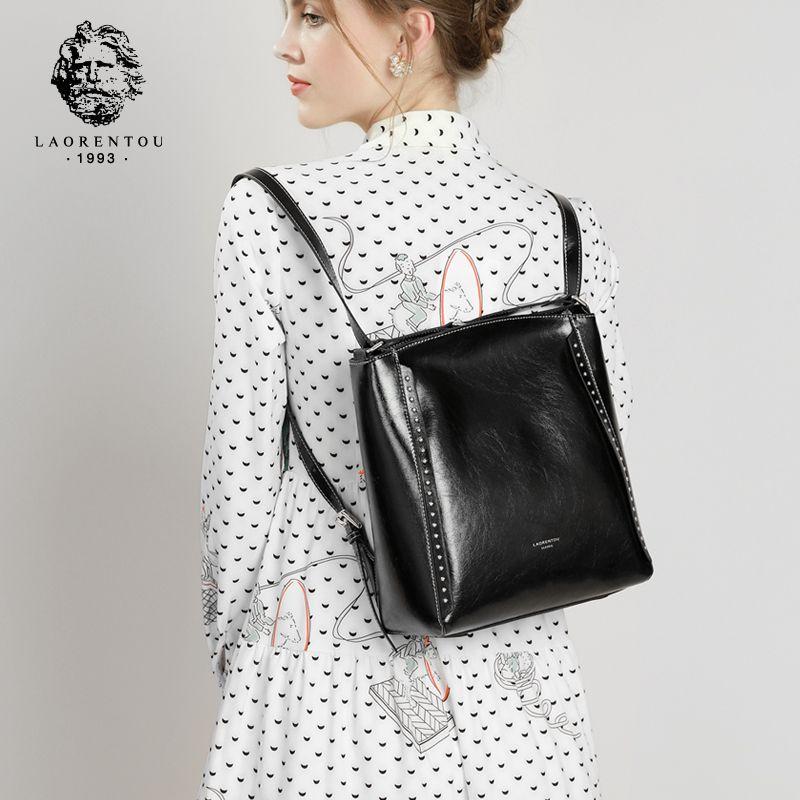 LAORENTOU Frauen Schulter Taschen Frau Große Kapazität Schulranzen Dame Hohe Qualität Weibliche Verkauft Retro Umhängetaschen für Mädchen