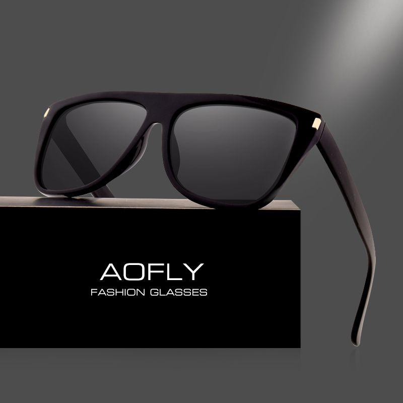 AOFLY Mujeres del DISEÑO de MARCA gafas de Sol Polarizadas Gafas de Sol Para Mujeres de Los Hombres de La Vendimia Gafas de Marco Cuadrado gafas de sol AF8065