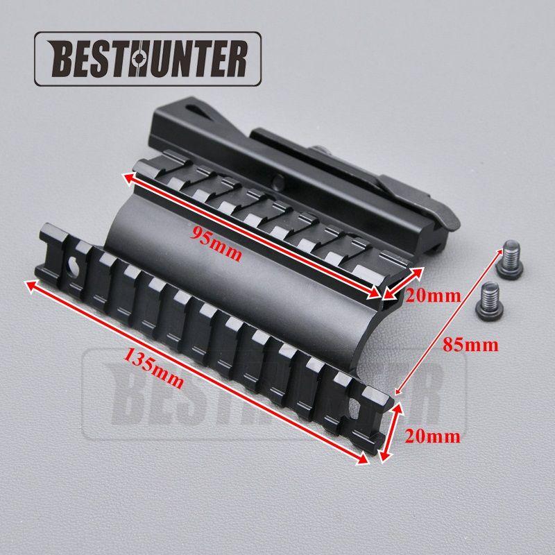 Taktische AK Serie Schiene Seitenmontage Schnell QD Stil 20mm lösen Weber-schiene Doppelseite AK Zielfernrohr Halterungen Gewehr jagd