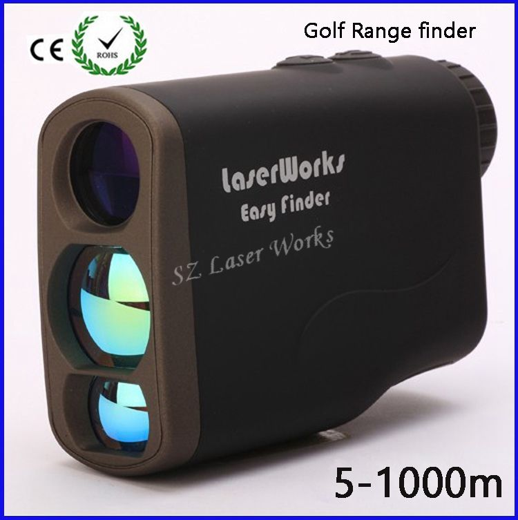 6x25 Hunting Monocular Telescope Golf Laser range Distance Meter Rangefinder 1000m Range Finder with 4 measurement modes