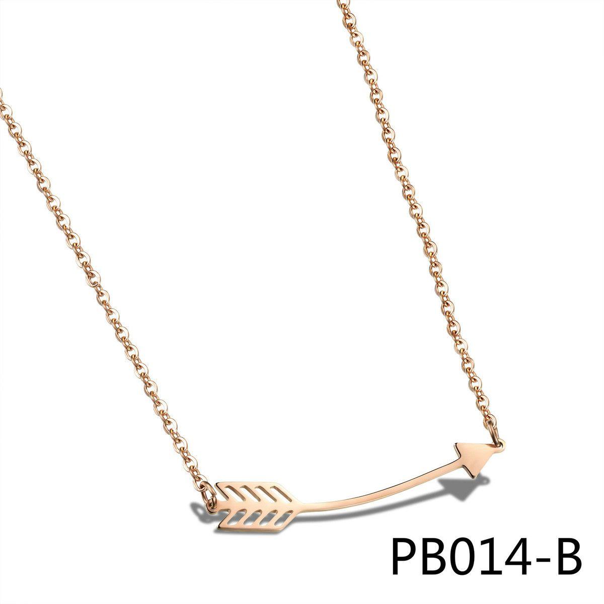 Новый шаблон ключицы pendeloque вырезать прекрасный розовое золото одной стрелкой Одежда Сердце доверенным подруга подарок обороны аллергия ...