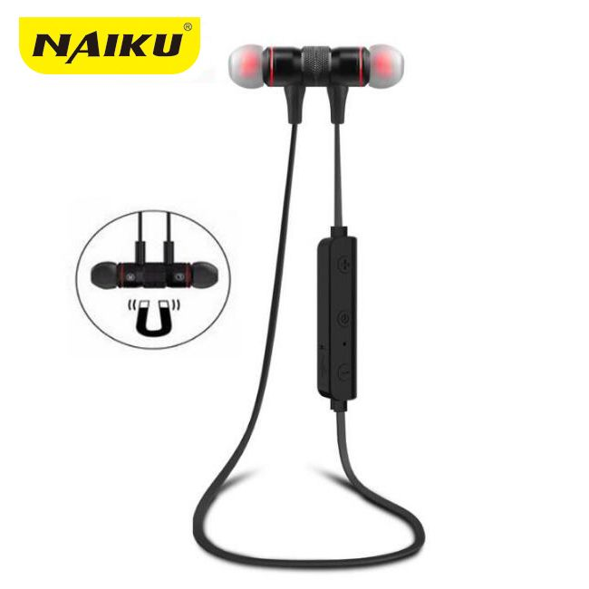 NAIKU M9 Bluetooth Headphones Wireless In-Ear Noise Reduction earphone with Microphone Sweatproof <font><b>Stereo</b></font> Bluetooth Headset