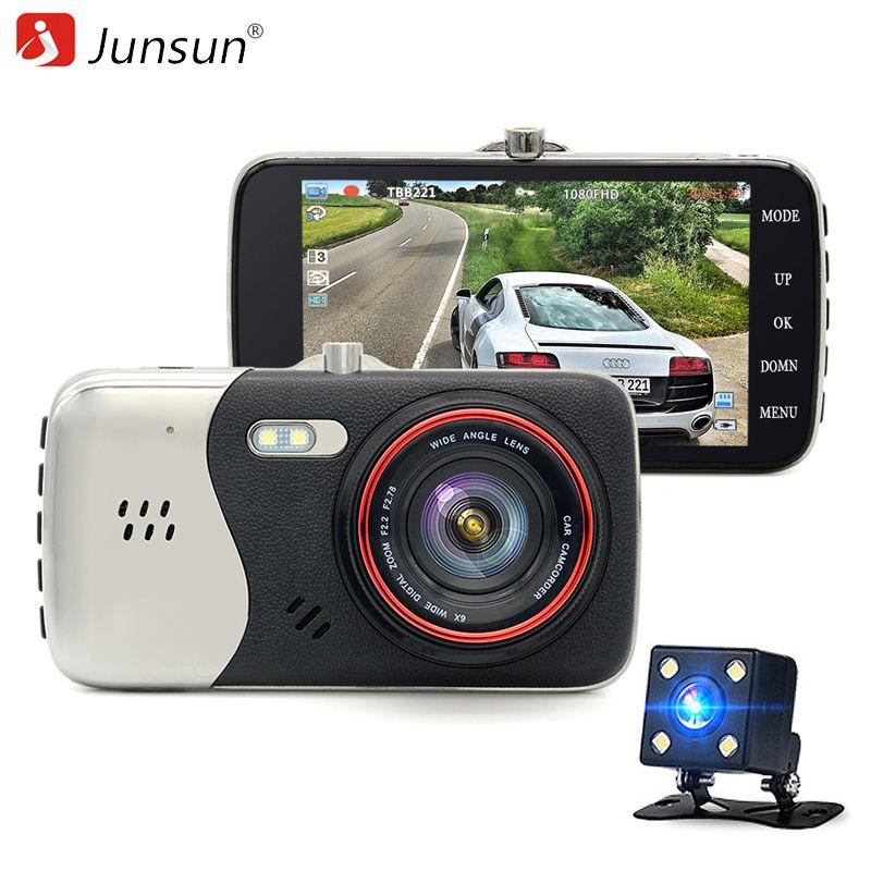 Junsun Dash Cam Car DVR Camera Full HD 1080P Dual Lens Video Recorder Parking Monitor Rear view Auto Camera Motion Detection